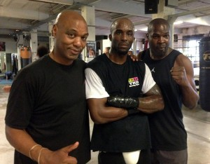 Brian O'Shaughnessy, Jerome Haywood and Terry Dunstan at the TRAD TKO Gym in London - Photo Gianluca (Rio) Di Caro